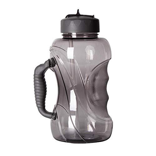Botella de agua WELTRXE, botella de agua grande con pajita, botella deportiva de 1.5L con asa, 1500 ml sellado a prueba de fugas Sin BPA, Tritan, funcionamiento de viaje de fitness
