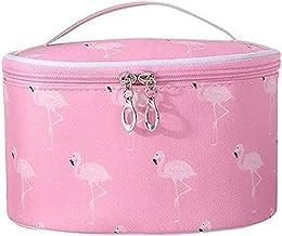 Archile Girls Make-up tas, Flamingo bedrukte schattige cosmetische tas PU Lederen make-up organizer draagbare archile toil...