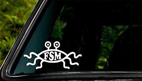 Apex Imports Flying Spaghetti Monster FSM Car Window Vinyl Decal Sticker 5'