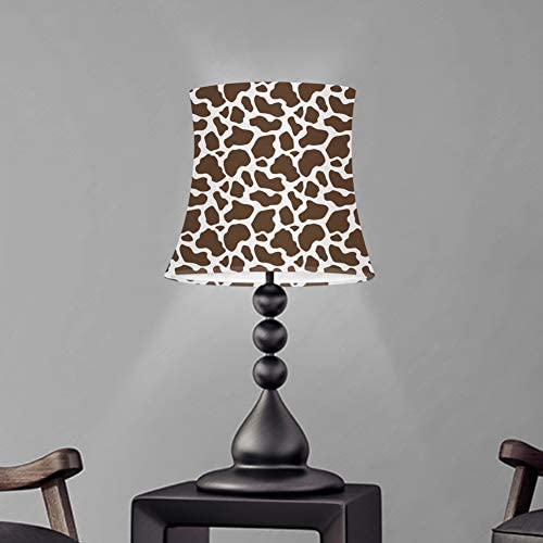 UZZUHI Floor or Table Lamp Shade Large Drum Lamp Cover Cow Print Gray White Living Room Study product image