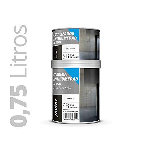 BARRERA ANTIHUMEDAD AL AGUA 2 COMPONENTES. impermeabilizante. Protege fachadas,muros,paredes interior. Mejora adherencia,cubremanchas. 750ML