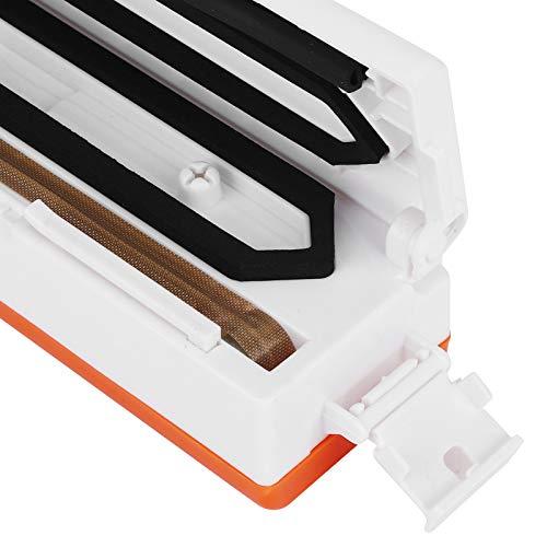 Kadimendium Máquina de envasado al vacío, Precisión EU 220V Selladoras al vacío automáticas Sistema de Sellado al vacío de Alta eficiencia y Peso Ligero con Bolsas de 10 Piezas para Cocina