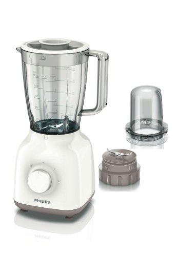 Philips Daily Collection HR2102/01 - Licuadora (1,5 L, Batidora de vaso, Beige, Blanco,...
