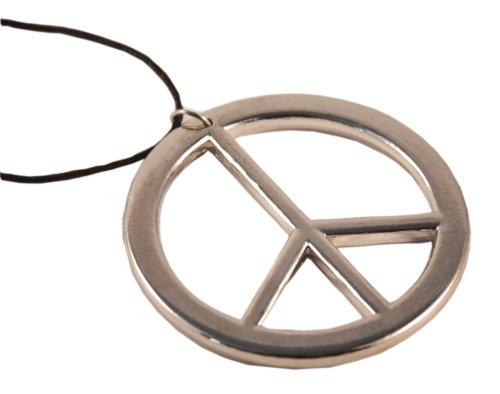 Oblique Unique Kette Peace-Zeichen Verchromt - Ø 6cm