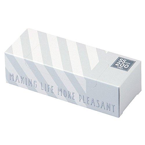 驚異の防臭袋 BOS (ボス) ストライプパッケージ /白色SSサイズ200枚入 赤ちゃん用 おむつ ・ ペット うんち ・ 生ゴミ ・ サニタリー などの処理に
