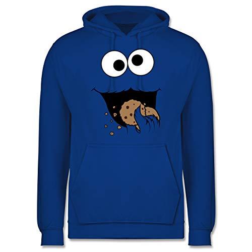 Shirtracer Karneval & Fasching - Keks-Monster - L - Royalblau - Coole Hoodies - JH001 - Herren Hoodie und Kapuzenpullover für Männer