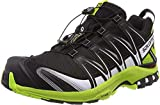 Salomon XA Pro 3D, Zapatillas de Trail Running Hombre, Negro Black Lime Green White, 40 2/3 EU
