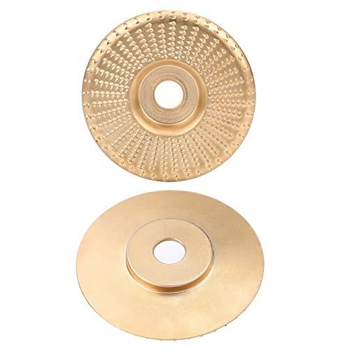 Cuque Schleifscheibe, Schleifscheibe, kompakte Größe Hochleistungs-Verschleißfestigkeit Goldschleifen zum Schleifen von industriellen Tischlern