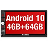 "PUMPKIN 7"" Android 10 Double Din Car Stereo 4GB RAM 64GB ROM Sat Nav Bluetooth Support GPS DAB+ Android Auto BT 5.0 WIFI USB SD Touch Screen Fastboot"