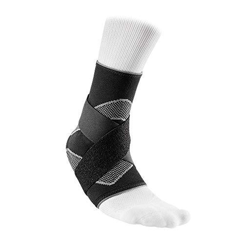 McDavid 4 Way Elastic Ankle Sleeve with Figure 8 Straps, Large, Black