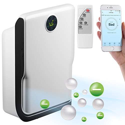 Sichler Haushaltsgeräte Luftfilter: 6-Stufen-Luftreiniger mit UV, Ionisator, WLAN & App, Alexa-kompatibel (Ionenluftreiniger)