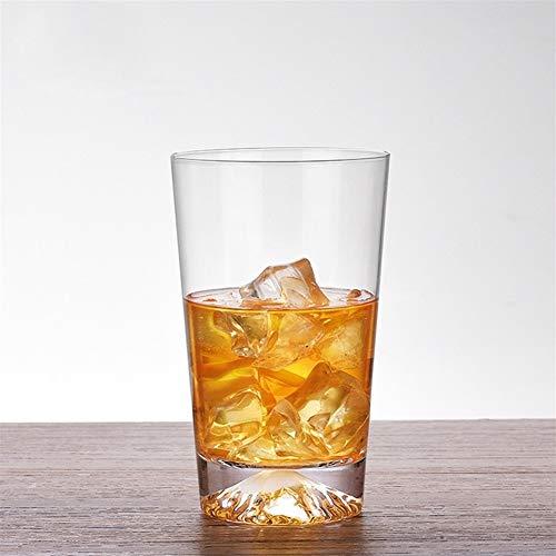 Z-Y Taza de Cafe Copa de Vino Vaso de Whisky Cristal de Vidrio Transparente de montaña de Nieve Vidrio Grueso cóctel de Whisky Brandy Cerveza Taza (Capacity : 300 400ml, Color : High Section 300ml)