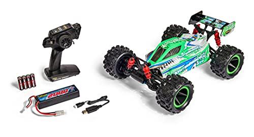 Carson 500404223 1:10 X10 Monster Warrior XL 2.0 100%RTR, Ferngesteuertes Auto, Offroad Buggy, inkl. Batterien und Fernsteuerung, Bedruckte Karosserie