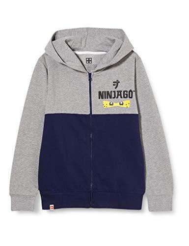 LEGO Jungen MW-Sweatjacke mit Kapuze Ninjago Sweatshirt, 590 Dark Navy, 134