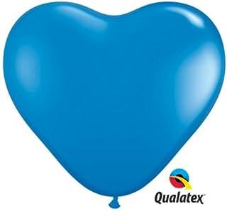 Qualatex風船 6インチ(16cm) ハート型ダークブルー 徳用100個入