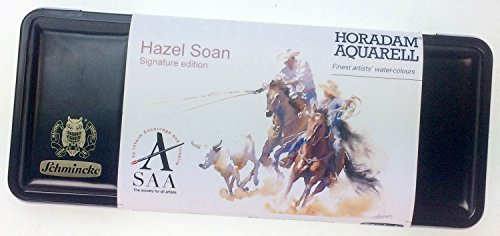 Hazel Soan Schmincke Horadam Aquarell Watercolour Set - 8 Full Pans and 9 Half Pans