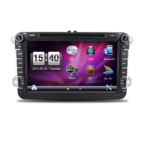 Free Camera+Canbus Wince 6.0 Double Din Car DVD Player GPS Navigation Stereo Bluetooth Fit for VW Volkswagen Jetta Golf 5 6 Skoda Passat Caddy T5 Seat