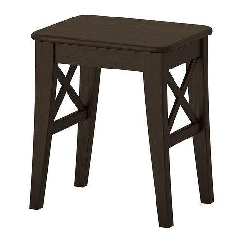 IKEA INGOLF–Hocker, braun, schwarz