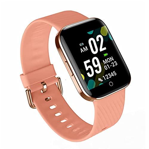 EXEDSCEND Smart Watch, Pantalla táctil Fitness con Monitor de Ritmo cardíaco y saturación de oxígeno en la Sangre, Impermeable IP67 Rastreadores de Actividades para Hombres Mujeres,Rosado
