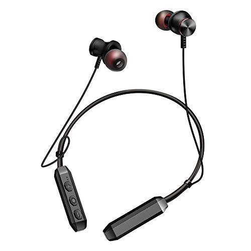 LKYBOA Cuffie Bluetooth, Cuffie sportive wireless impermeabili, Cuffie stereo + / Hi-Fi for bassi + / Hi-Fi con microfono, Cuffie sportive Playtime di Hrs, perfette for la corsa e l'allenamento in pal