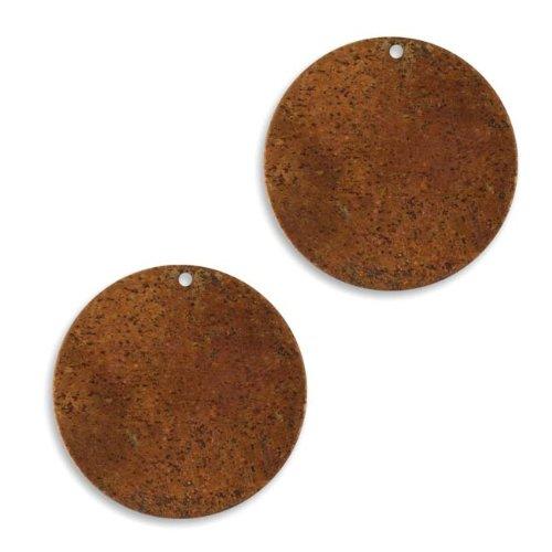 Vintaj Anhänger, Kupfer, blanko, Kreisform, zum Prägen, 25,5mm, 2 Stück