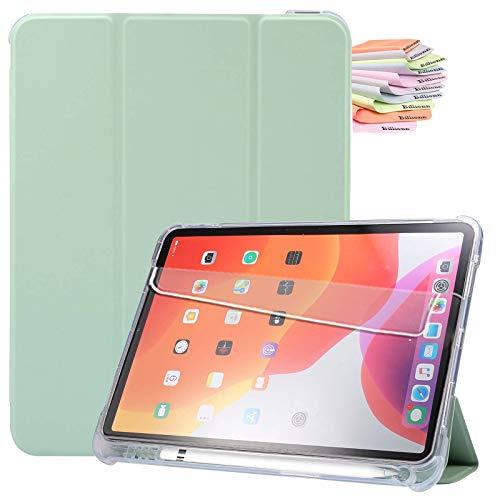 Billionn Custodia per iPad Air 4a Generazione 2020 + Proteggi Schermo, per iPad Air 4a 10,9 Pollici 2020 Smart Cover con Auto Sleep Wake e Portapenne, Menta Verde