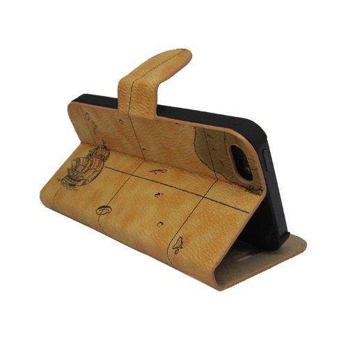 COVER Croco modello Custodia iPhone 5Portafoglio Custodia in pelle Protettiva Case Caso trapuntato