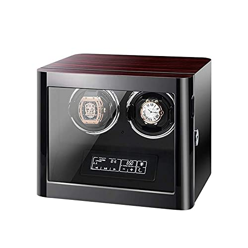 XLAHD Enrollador de Reloj automático, enrollador de Reloj automático para Pantalla de Reloj Doble y Almohadas de Reloj Ajustables, con Control Remoto Relojes para Mujer para Hombre