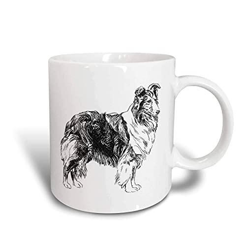 N\A Vintage Sketch of a Collie Dog Mug, Cerámica