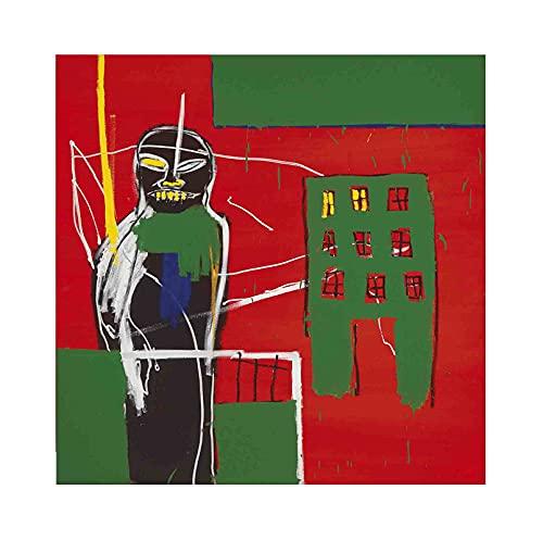 《Peatón》 Jean-Michel Basquiat Cuadro en Lienzo| Lienzos Decorativos | Cuadros Decoración Dormitorios | Cuadros Decoración Salón (70x70cm (28x28inch), sin marco)
