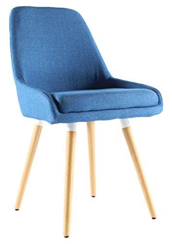 Moloo Silla escandinavo de Comedor Tejido Azul Tuco 47 x 48 x 86 cm