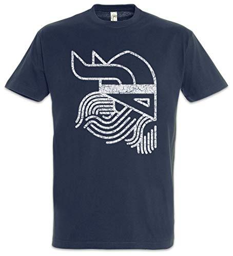 Urban Backwoods Viking Head Symbol Camiseta De Hombre T-Shirt Azul Talla L