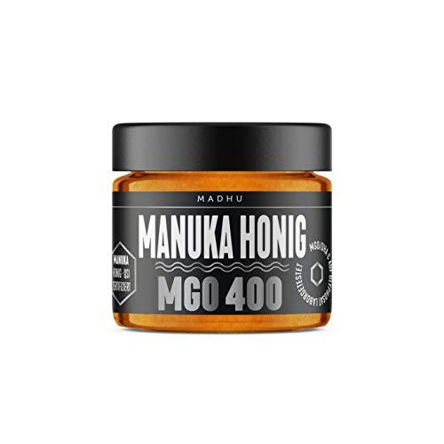 Manuka Honig 400+ MGO im hochwertigen Glas - Direkt vom Imker aus Neuseeland - zertifizierter Methylglyoxal-Gehalt (150g) - inklusive GRATIS Manuka Guide