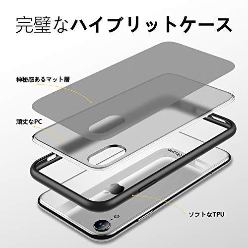 【2021進化版4段階衝撃防止】Humixx半透明iPhoneXRケースiPhone10rケース滑り止め米軍MIL規格取得ワイヤレス対応可能マット加工黄ばみなしレンズ保護6.1インチアイフォンxrカバースマホケース[ShockproofSeries]ブラック