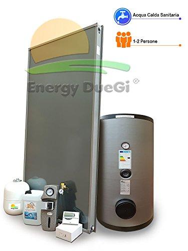 Kit impianto solare termico circolazione forzata per produzione Acqua Calda Sanitaria, 1-2 persone, bollitore 150 litri, FKS