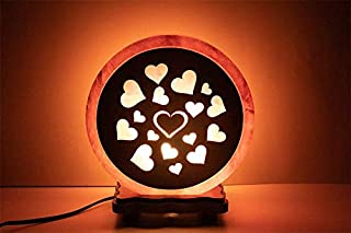 Himalayan Salt Lamp - Round sheet Heart