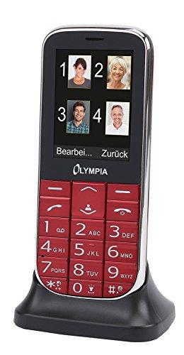 Olympia 2220 Joy II Handy für Senioren ohne Vertrag Seniorenhandy Tastenhandy mit großen Tasten lauter Klingelton Kamera 2,4