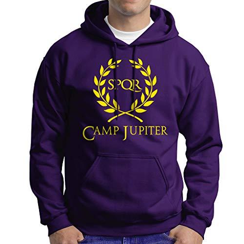 Percy Jackson - Camp Jupiter - Sudadera con Capucha Hombre - 50% Algodón