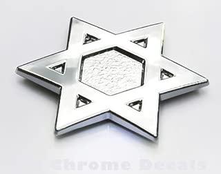 David`s Star Jewish Israel Car 3D chrome decal sticker