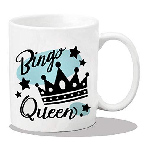 Alicert5II keramische bingospeler-beker keramische koffiekop-Bingo-geschenkafzonderlijke delen bedrukkingen koffiekopjes Bingo-liefhebbersgeschenken Bingok-nigin koffiemokken