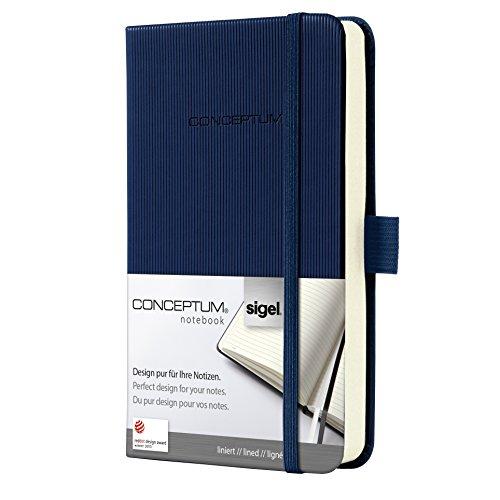 Sigel CO576 Conceptum Libreta / Cuaderno, tapa dura, 9.5 x 15 cm, rayado, azul
