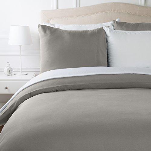 AmazonBasics Parure de lit avec housse de couette en microfibre, Taupe, 260 x 240 cm