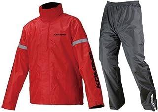 コミネ KOMINE バイク レインスーツ STD レインウェア GTX スプリーム レインウェア 雨具 防水 カッパ レッド 3XLB 03-543 RK-543