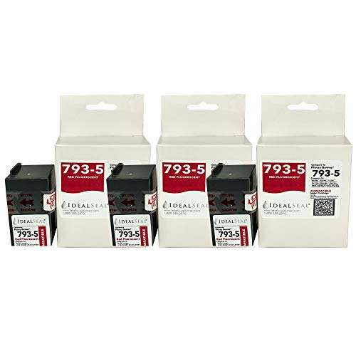 (3) Pitney Bowes Compatible 793-5 Red Ink Cartridge for P700, DM100i, DM125i, DM150i, DM175i, DM200L, DM225 Postage Meters