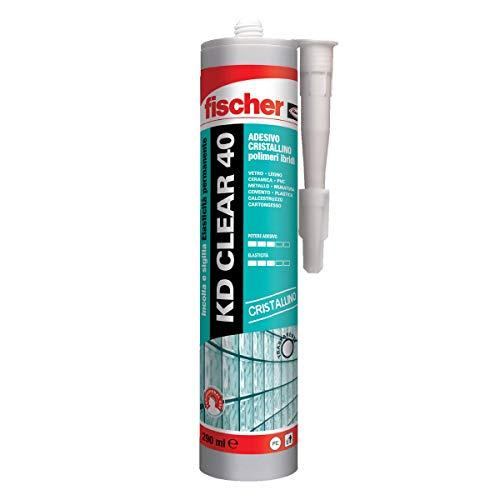 Fischer KD CLEAR 40 544919 - Adhesivo sellador para cristal, vidrio y...