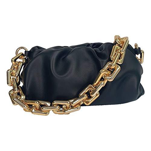alilove Cloud Bag Dumpling Shoulder Bag Chunky Chain Pouch Bag
