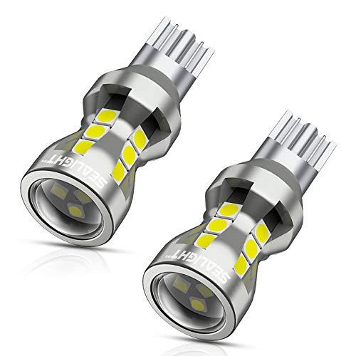 SEALIGHT 912 LED Bulbs, 912 921 LED Backup Light Bulbs, 912 921 LED Reverse Light 6000K 2600Lumens Super Bright, T15 906 904 902 W16W for Back Up Lights Reverse Lights, Pack of 2