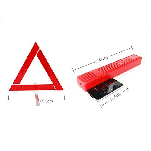Dequate Auto Road Warndreieck Klappwagen Notfall Stativ Reflektierende Kfz-verkehrswarnung Stoppschild, Rot