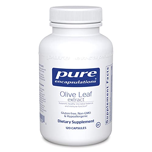Pure Encapsulations - Olive Leaf Extract - Hypoallergenic Supplement Supports Immune System and Healthy Intestinal Environment - 120 Capsules