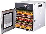 WNN-L Déshydrateur alimentaire, sèche-fruits, acier inoxydable 304, séchage uniforme à 360 °, touche infrarouge de micro-ordinateur, minuterie 24h / 24, réglable 35-90 ° C, 8 couches WNN-L